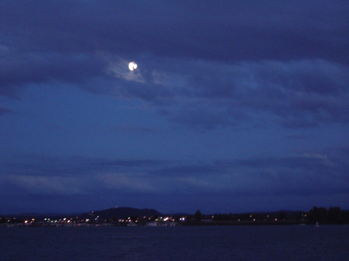 Moon Over Columbia River