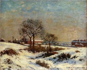 landscape-under-snow-upper-norwood- Camille Pissarro
