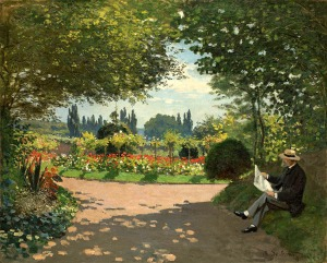 Monet in the Garden by Monet