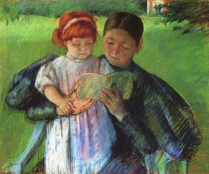 Nurse reading to a Little Girl by Mary Cassatt (1895) Public Domain, Wikimedia Commons