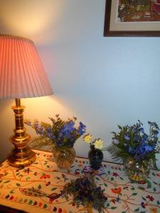 Florals from wedding reception