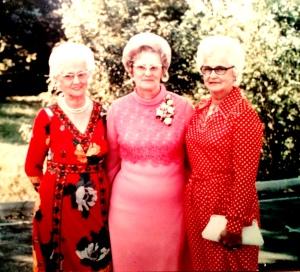 Mary, Christine, Edna (my mom): Kelly Girls