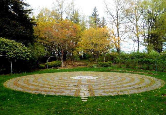 Labyrinth at Menucha Retreat Center, similar to a labyrinth at Chartres' Cathedral.