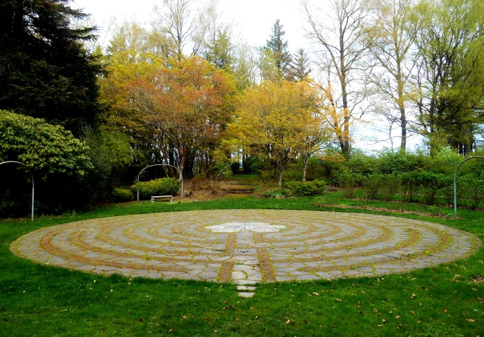 Labyrinth at Menucha Retreat Center, similar to a labyrinth at Chartres' Cathedral.