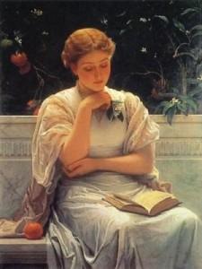 Girl Reading by Charles Edward Perugini