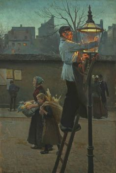 The Lamp Post in the City by Erik Hennigsen, 1897