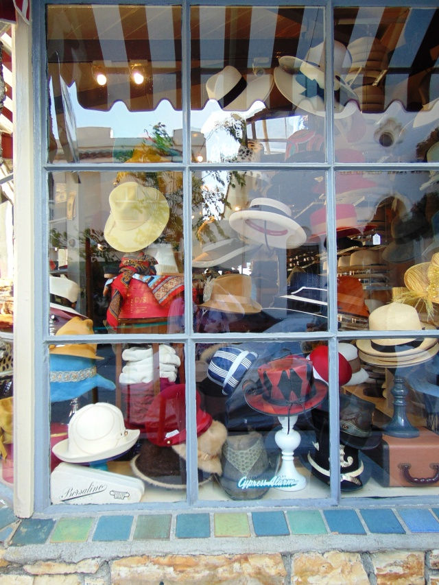 Hat, anyone? Another quaint shop in Carmel.