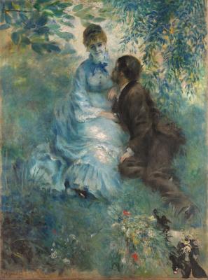 Pierre Auguste-Renoir- Liebespaar-