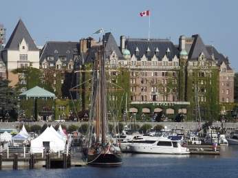 The Empress Hotel by day