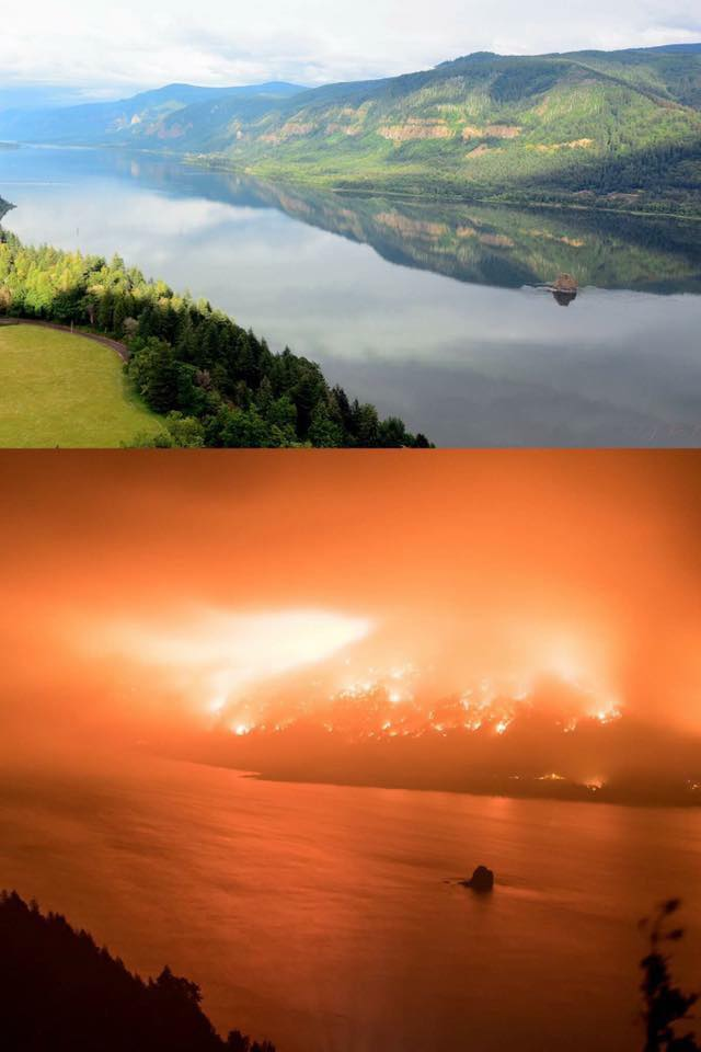 Columbia Gorge: Before and After
