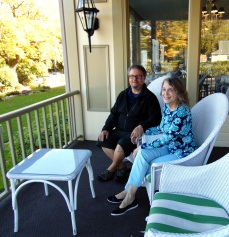 Marc and me on lovely front porch