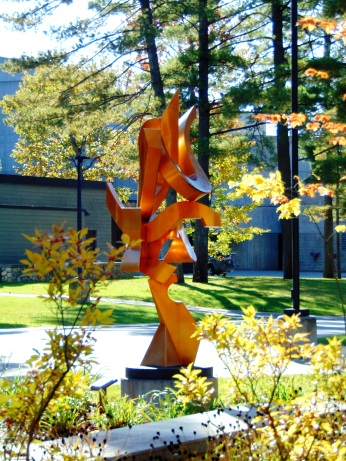 Sculpture outside of Visual Arts Bldg.