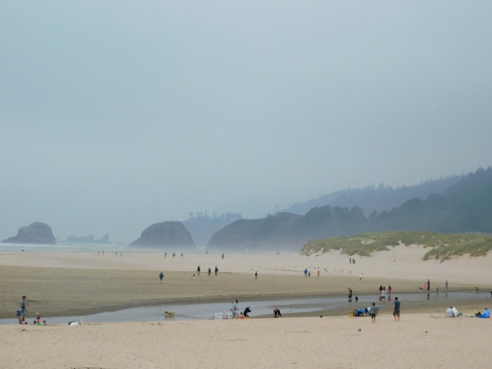 Salmon Creek, Cannon Beach, smoke 072