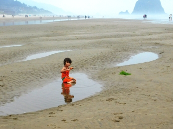 Salmon Creek, Cannon Beach, smoke 078