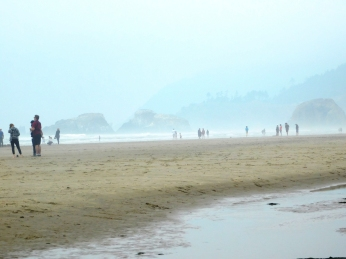 Salmon Creek, Cannon Beach, smoke 080