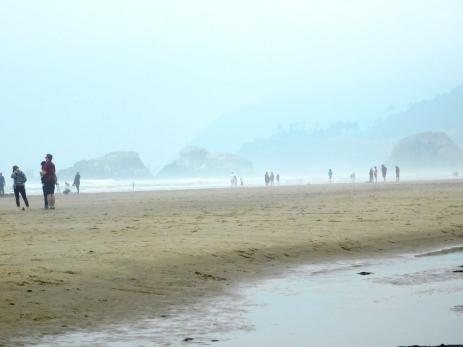 Salmon Creek, Cannon Beach, smoke 080