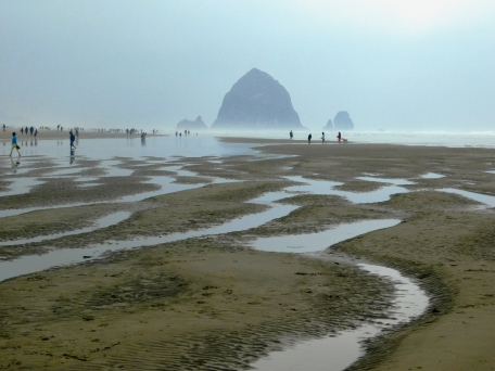 Salmon Creek, Cannon Beach, smoke 089