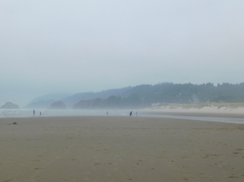 Salmon Creek, Cannon Beach, smoke 093