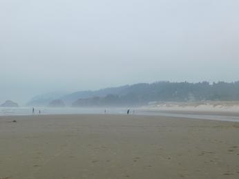 Salmon Creek, Cannon Beach, smoke 093